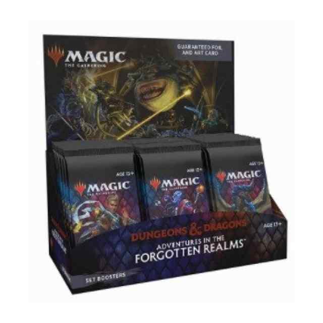 Magic: Aventuras en Forgotten Realms- Expositor de sobres de expansión (SET BOOSTERS, INGLÉS) TABLERUM