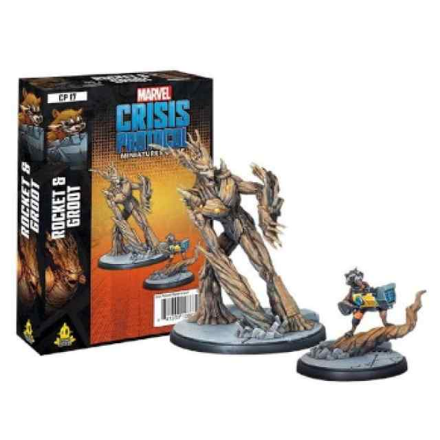 Marvel Crisis Protocol Rocket and Groot EN TABLERUM