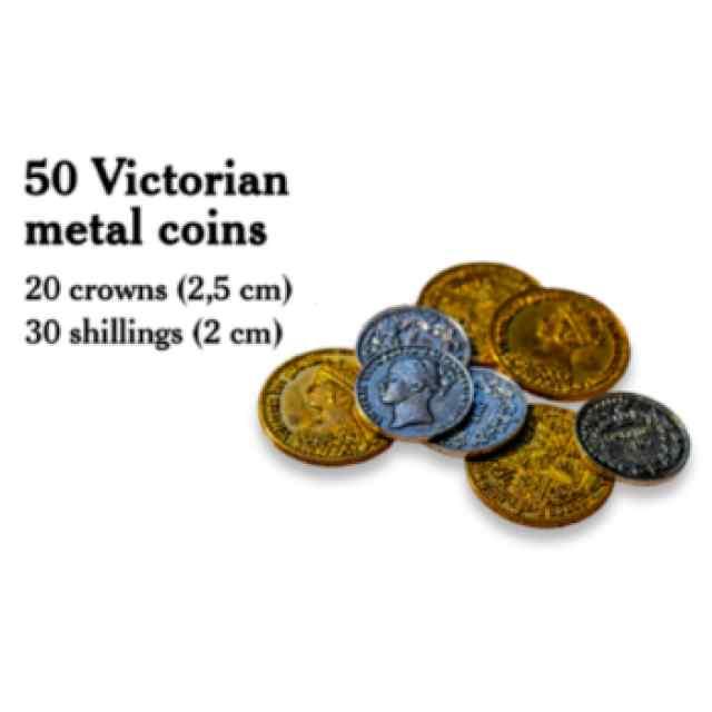 Nanty Narking: Monedas de metal de Estilo Victoriano TABLERUM