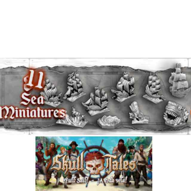 Skull Tales: 11 miniaturas de mar (Minis de Travesía) TABLERUM