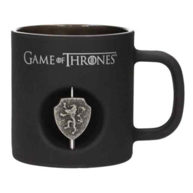 Juego de Tronos: Taza Casa Lannister Emblema 3D Giratorio TABLERUM