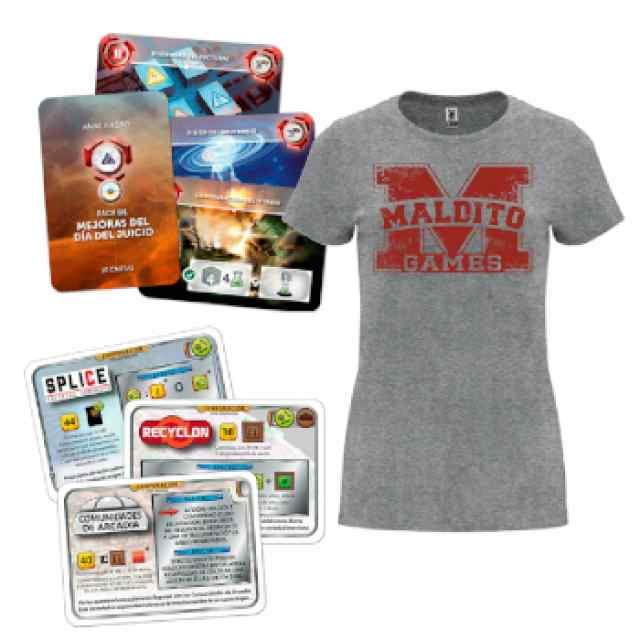 Terraforming Mars + Anachrony Pack Promos + Camiseta Mujer TABLERUM