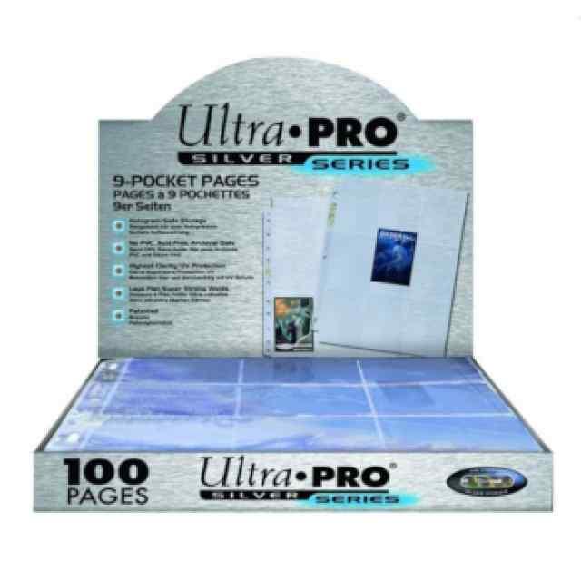 Hojas 9 Bolsillos Silver Ultra Pro - Paquete De 100 TABLERUM