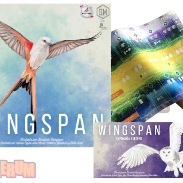 Wingspan + Expansión Europea + 5 Tapetes Wingspan TABLERUM