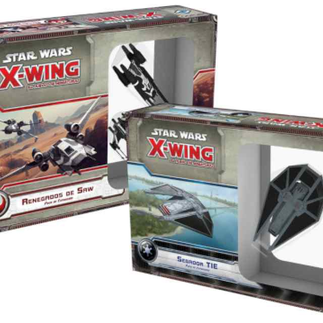 X Wing: Renegados de Saw + Segador TIE PACK TABLERUM